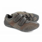 Route 21 DALE Mens Casual Velcro Trainers Waxy Brown