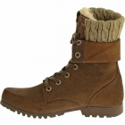 Cat ® ALEXI Ladies Suede Warm Lined Lace-Up Boots Dark Snuff