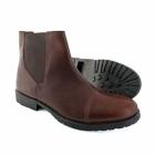 Jack & Jones JJ RADNOR Mens Leather Chelsea Boots Brown Stone