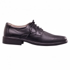 Padders ANDREW Mens Leather Lace-Up Wide (G) Shoes Black