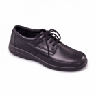 Padders GEORGE Mens Leather Lace-Up Wide Fit Shoes Black