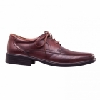 Padders ASTON Mens Leather Lace Wide Shoes Brown