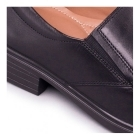 Padders ALEX Mens Leather Slip-On Wide Fit Loafers Polished Black