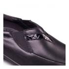 Padders RITA Ladies Extra EE Wide Slip On Wedge Shoes Black/Croc