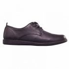 Padders JAKE Mens Leather Lace-Up Wide (G) Casual Shoes Black