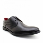 Base London BAYHAM Mens Lace-Up Leather Shoes Waxy Black