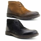 Base London CARBON Mens Leather Chukka Boots Greasy Suede Tan