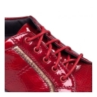 Padders ATOM Ladies Patent Leather Lace Up Wide Fit Shoes Red