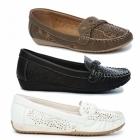 Natrelle STEFANIE Ladies Faux Leather Slip-On Shoes Brown