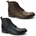 Ikon STILLER Mens Leather Derby Boots Black