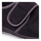 Padders HARRY Mens Microsuede Velcro Wide Fit Full Slippers Black