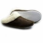 Cara Mia JUDY Ladies Soft Faux Fur Mule Slippers Dark Brown