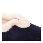 Padders CARMEN Ladies Microsuede Extra Wide (EE) Fitting Full Slippers Navy