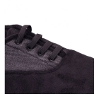 Padders SNEAKER Mens Lace Up Wide Fit Slippers Black