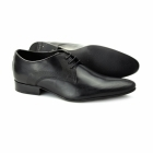 Ikon JACKSON Mens Leather Wingtip Shoes Black