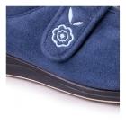 Padders CAMILLA Ladies E Wide Velcro Slippers Denim Blue