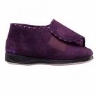 Padders CHERISH Ladies Extra Wide Fit Velcro Full Slippers Purple