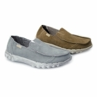Hey Dude FARTY Mens Suede Slip-On Mule Shoes Nut