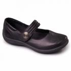 Padders POEM Ladies EEE/EEEE Extra Wide Fit Velcro Shoes Black