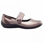 Padders POEM Ladies EEE/EEEE Extra Wide Fit Velcro Shoes Pewter