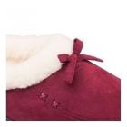 Padders SNUG Ladies Microsuede Extra Wide Fit Slippers Burgundy