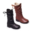 Padders PIPER Ladies Leather Extra Wide Plus Zip Calf Boots Black