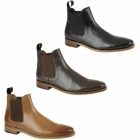 Kensington TED Mens Leather Chelsea Boots Tan