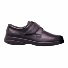 Padders AIR Mens Leather Velcro Comfort Shoes Black