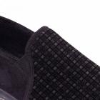Padders ALBERT Mens Checked Wide Fit Full Slippers Black