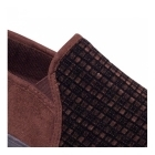 Padders ALBERT Mens Checked Wide Fit Full Slippers Brown