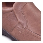 Padders LEO Mens Leather Slip-On Extra Wide G/H Loafers Taupe
