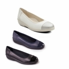 Padders FEARNE Ladies Leather E Wide Pumps Navy/Patent