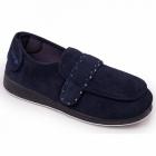 Padders ENFOLD Ladies Velcro Extra Wide Fit (EE) Slippers Navy