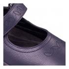 Padders SPRITE 2 Ladies Embroidered EEE/EEEE Wide Touch Fasten Shoes Navy