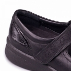 Padders SPRITE 2 Ladies Embroidered EEE/EEEE Wide Touch Fasten Shoes Black/Patent