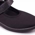 Padders SPRITE 2 Ladies Embroidered EEE/EEEE Wide Touch Fasten Shoes Black Lycra