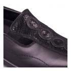 Padders ADORA Ladies Leather EE/EEE Wide Fit Loafers Black