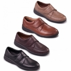 Padders SOLAR Mens Leather Velcro Extra Wide G/H Comfort Shoes Taupe