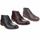 Rockport LEDGE HILL 2 Mens Lace Leather Chukka Boots Dark Brown
