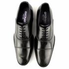 Gucinari BERNARDO Mens Leather Cuban Heel Shoes Black