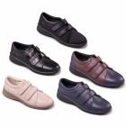 Padders REVIVE 2 Ladies Velcro Wide EEE/EEEE Fit Shoes Navy