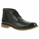 Hush Puppies BENSON RIGBY Mens Wide Fit Chukka Boots Black
