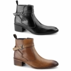 Gucinari JOHN Mens Leather Cuban Heel Boots Tan