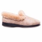 Padders LUXURY Ladies Microsuede Extra Wide (EE) Fit Slippers Beige
