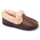 Padders LUXURY Ladies Microsuede Extra Wide (EE) Fit Slippers Bronze