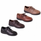 Padders LUNAR Mens Lace-Up Extra Wide Shoes Dark Brown