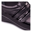 Padders VELVET Ladies EE Wide Fit Touch Fasten Wedge Shoes Black