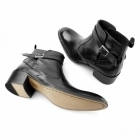 Gucinari JOHN Mens Leather Cuban Heel Boots Black