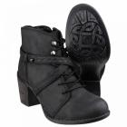 Hush Puppies GITTE MOORLAND Ladies Leather Boots Black