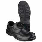 Hush Puppies RANDALL Mens Dual Fit Leather Shoes Black